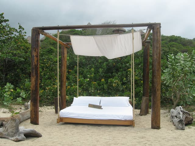 Ecohab Outside Bed, Tayrona National Park
