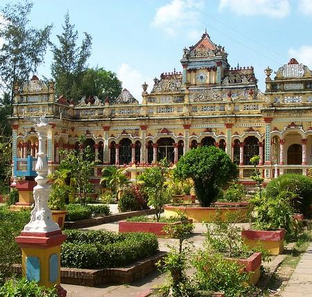 Vinh Trang Pagoda Mekong Delta Vietnam