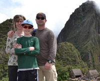 Susie and family at Machu Picchu web