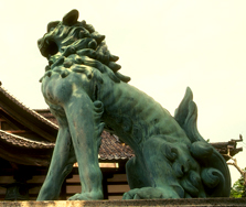 temple dog statue  Japan