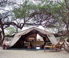 Amboseli Porini Camp reception tent