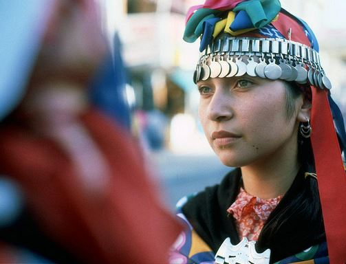 A member of the Mapuche community in Chile.