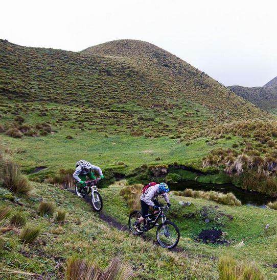 Biking in the highlands of Ecuador