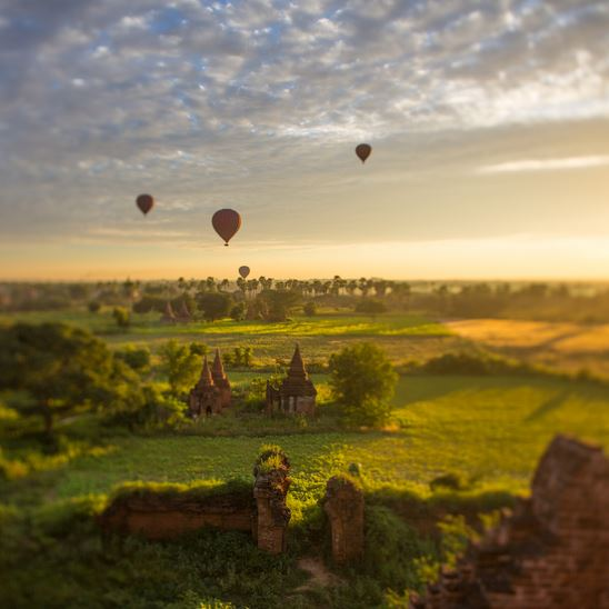 A ride over Bagan, Myanmar