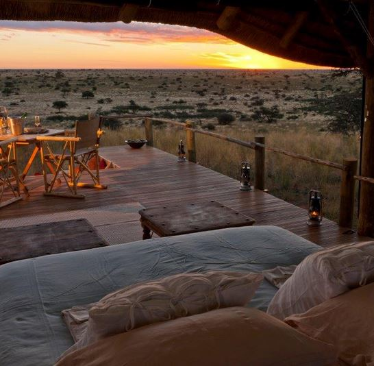 A Malori Sleep Out Deck in Kalahari, South Africa