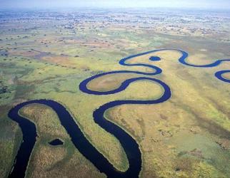 Okavango Delta - Aerial View